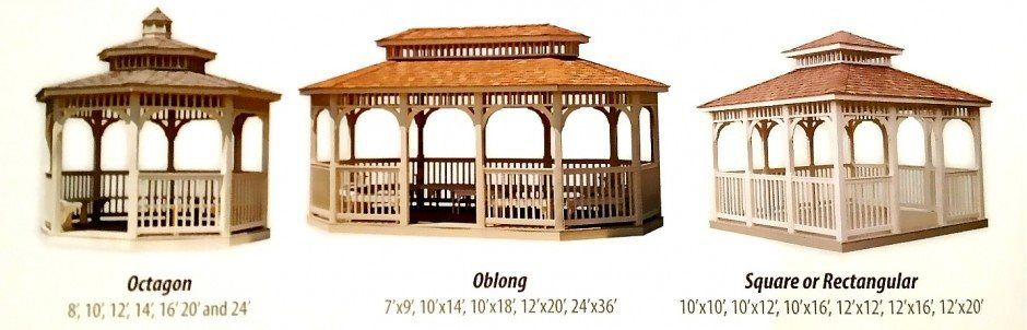 Gazebo shapes
